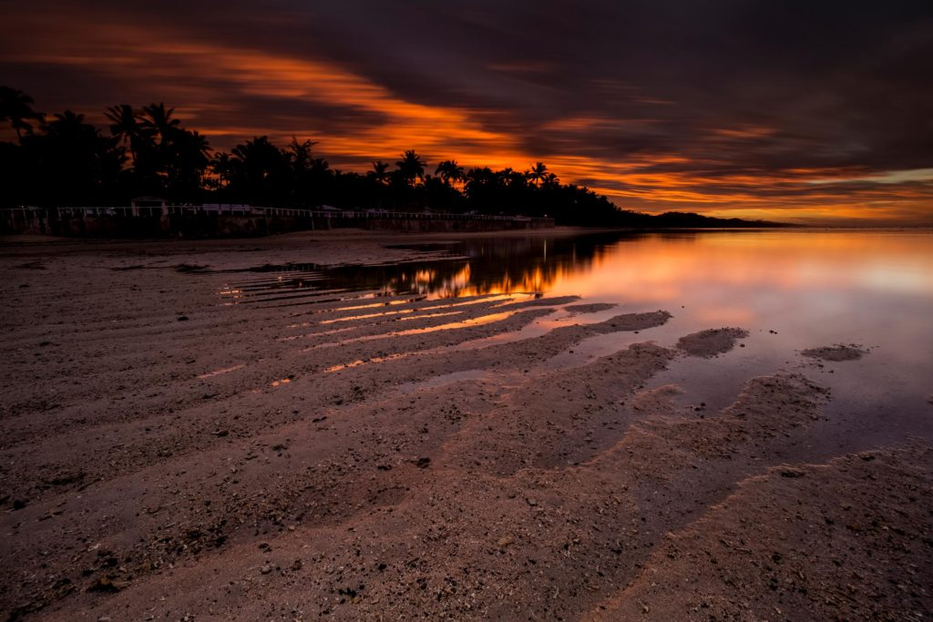 fiji beach sunrise