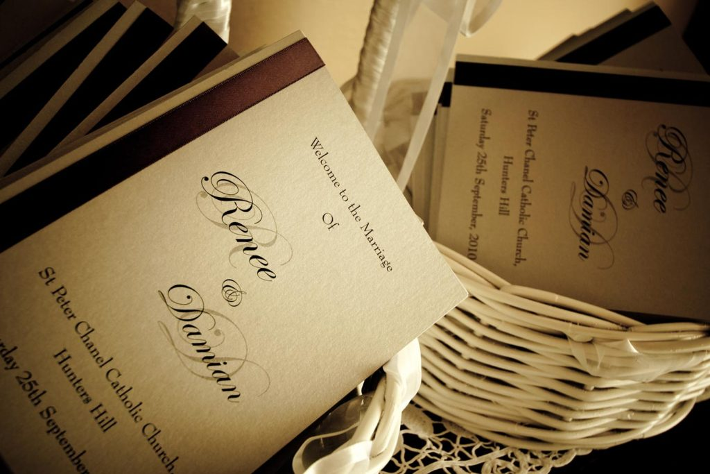 wedding day programs