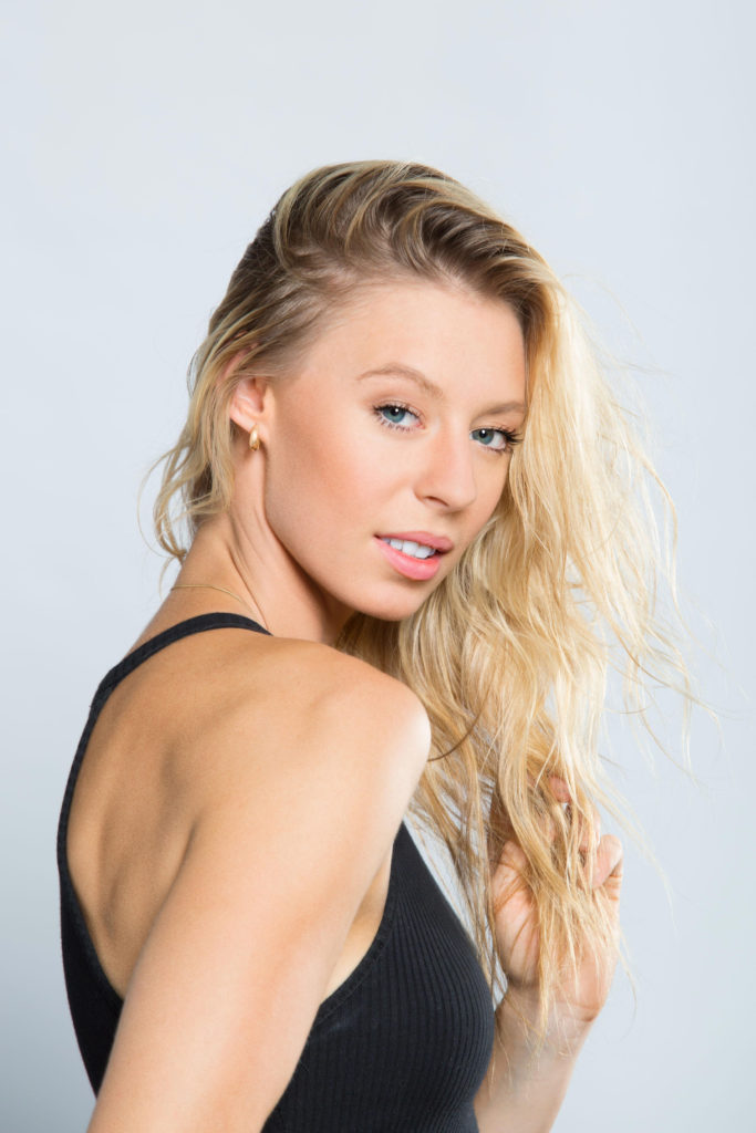 Fitness model glamour head shot