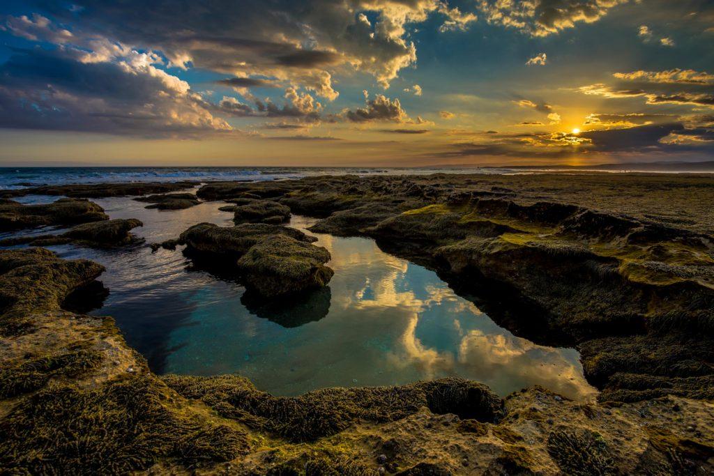 anglesea coast line at sunset
