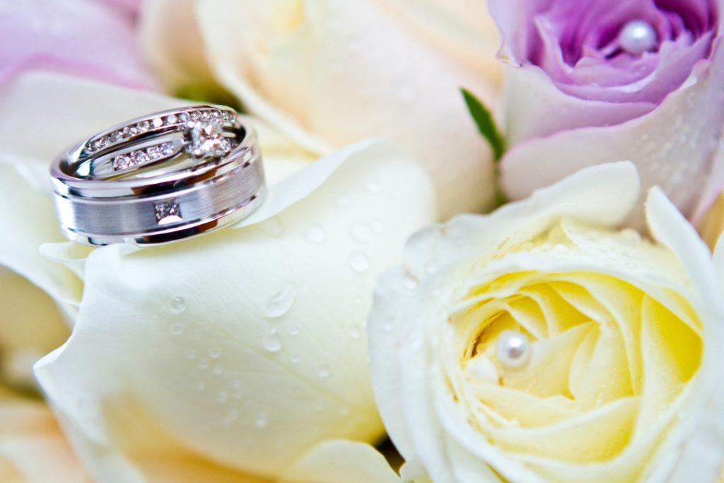 bridal bouqet close up