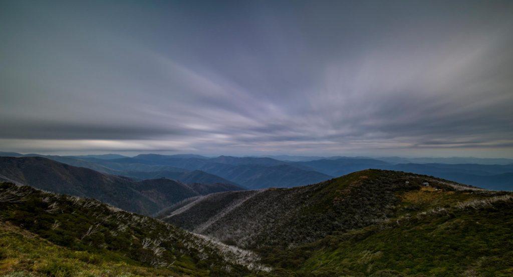 cloudy victorian mountain ranges