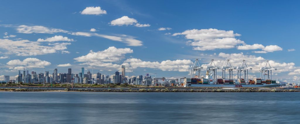 melbourne city view from williamstown