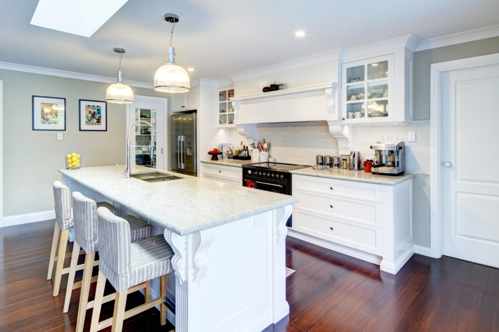provincial kitchen design with island bench