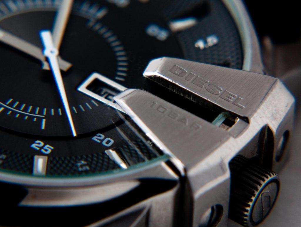 black diesel watch face