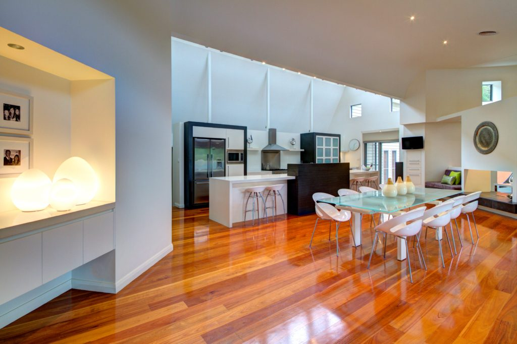 open plan kitchen and dining room design