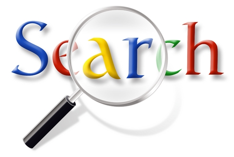 blue red yellow image of google search